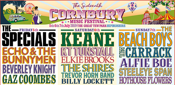 Countdown to Cornbury Music Festival – 5th-7th July 2019